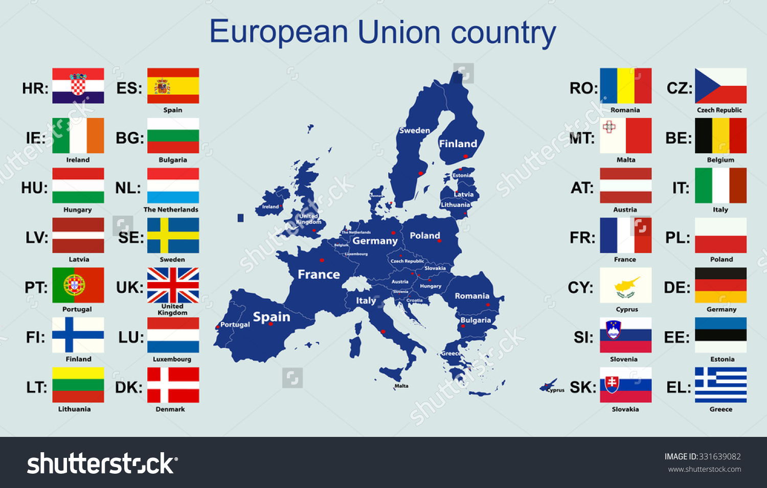 european-union-map-and-all-the-countries-flags-of-the-member-countries-of-the